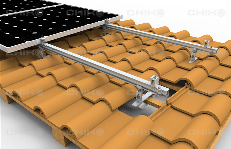 Legend of convenient —CHIKO Solar Newest Product Crown Tile Roof Solar Mounting